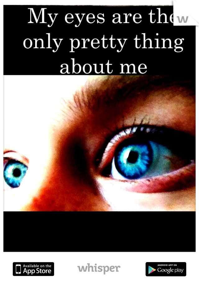 My eyes are the only pretty thing about me