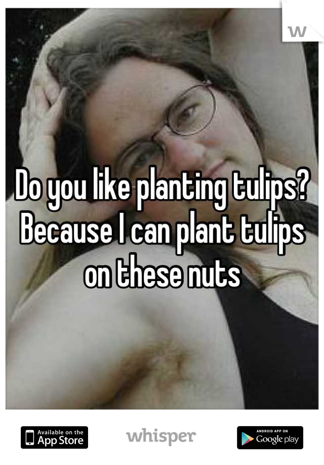 Do you like planting tulips? Because I can plant tulips on these nuts