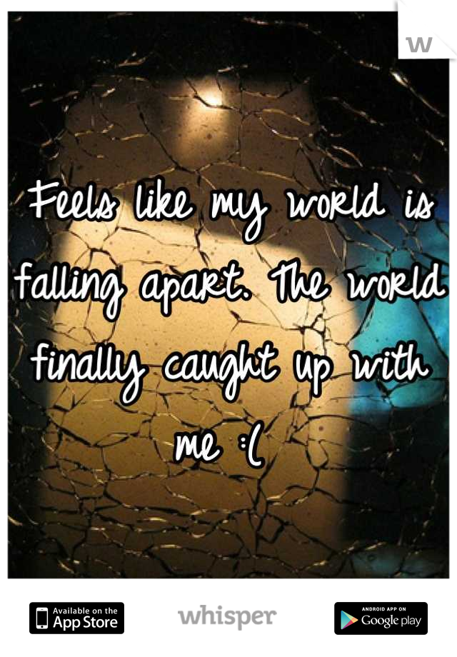 Feels like my world is falling apart. The world finally caught up with me :(