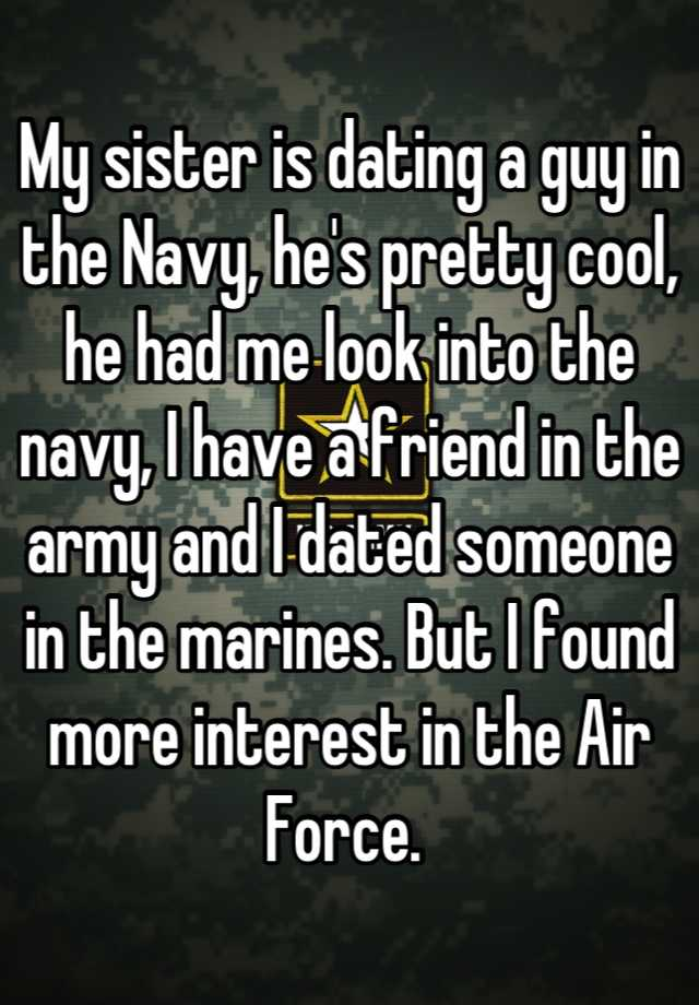 Dating a girl in the navy