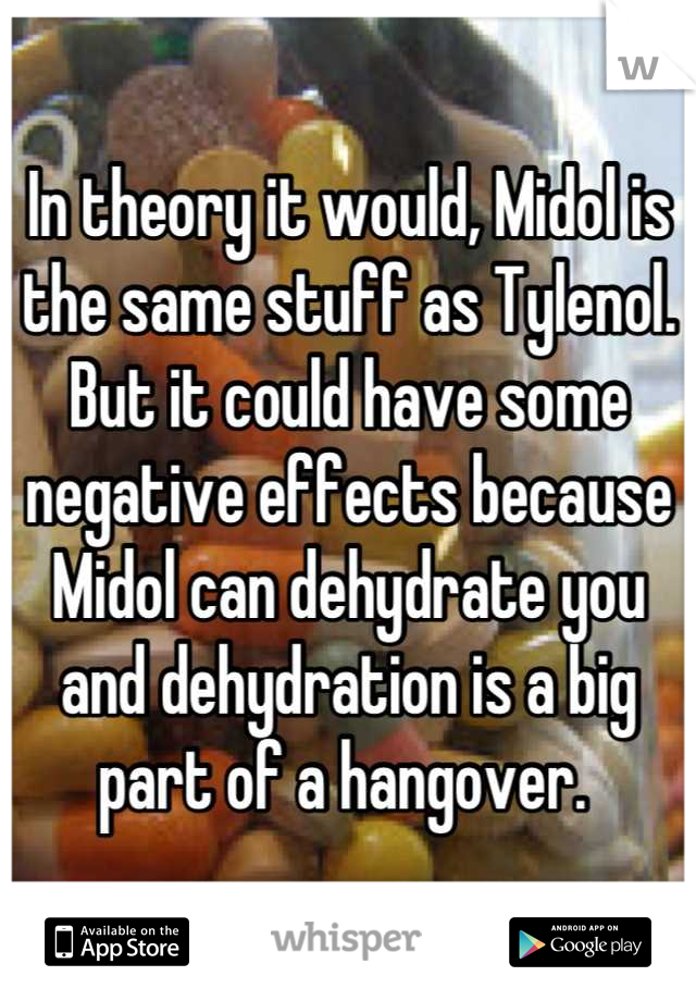 In theory it would, Midol is the same stuff as Tylenol  But