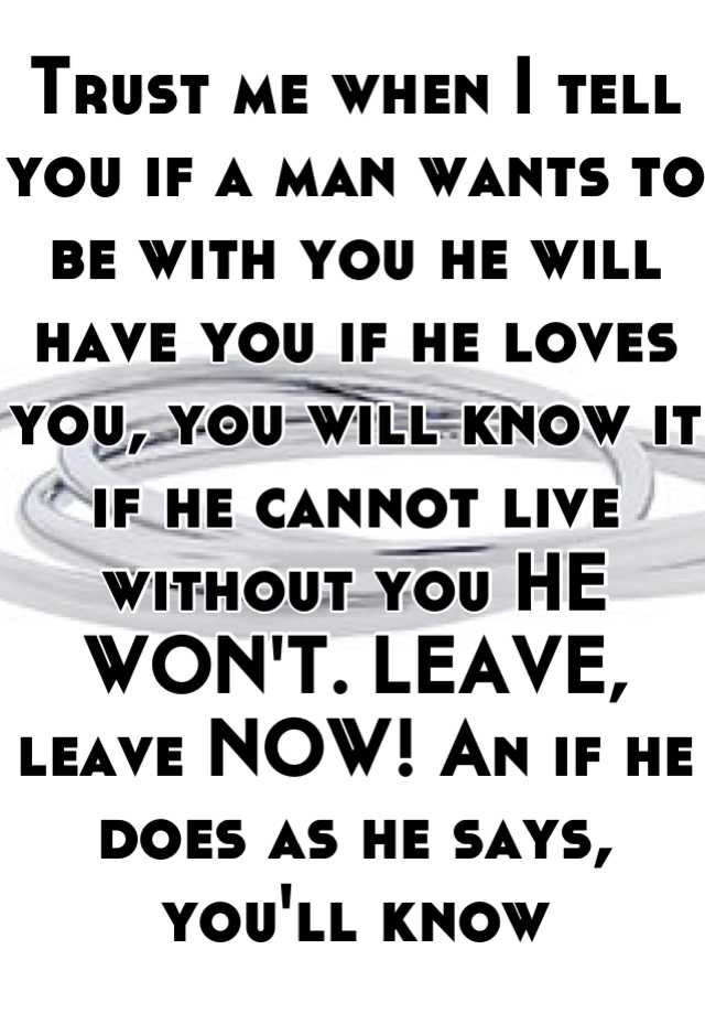 how do you know if he wants you