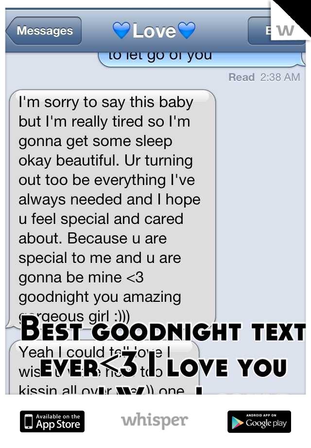 I love you goodnight texts