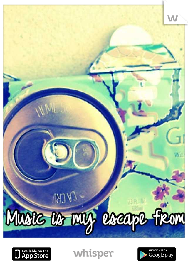 Music is my escape from all the bullshit in life .