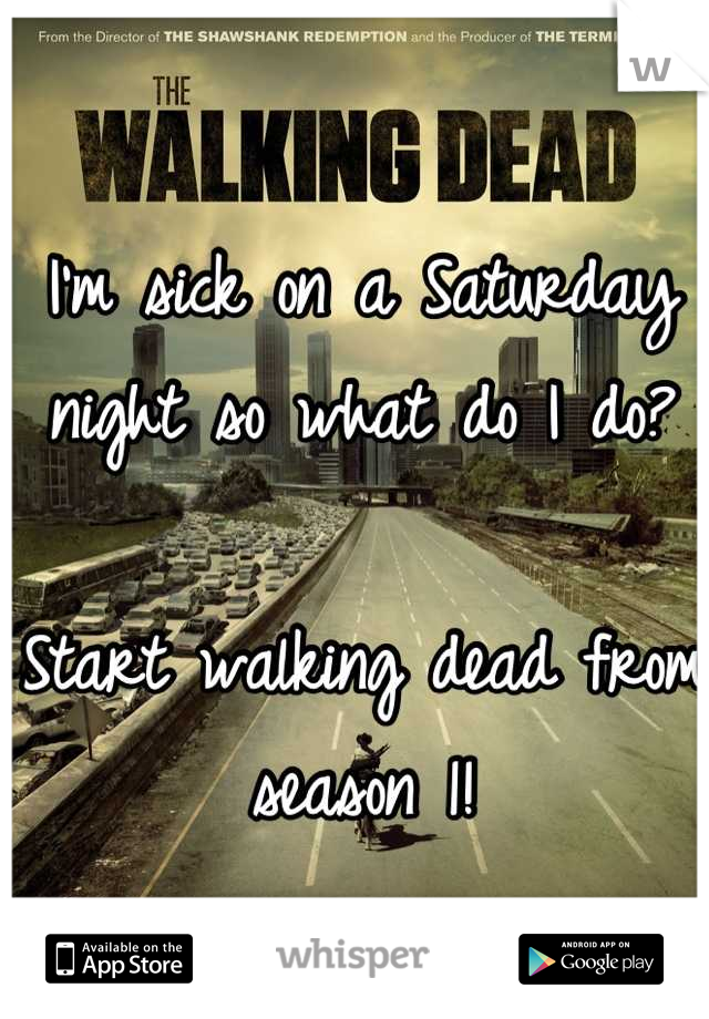 I'm sick on a Saturday night so what do I do?  Start walking dead from season 1!