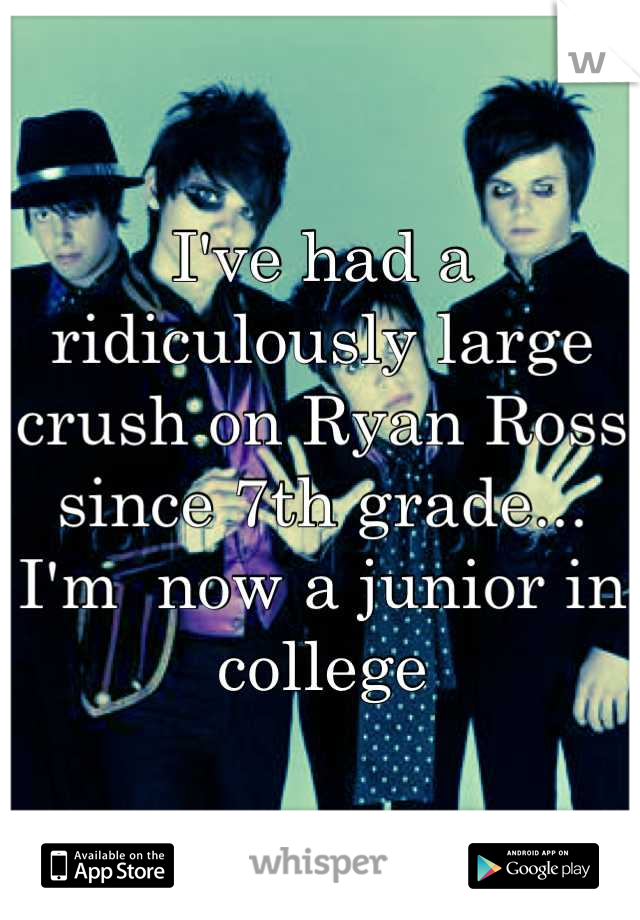 I've had a ridiculously large crush on Ryan Ross since 7th grade...  I'm  now a junior in college