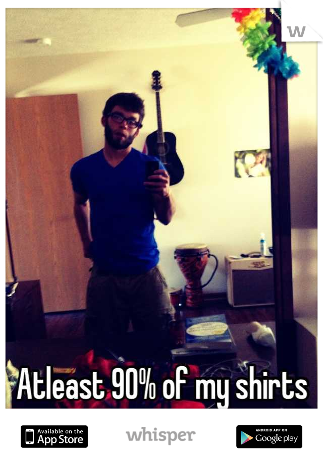 Atleast 90% of my shirts are V-Necks