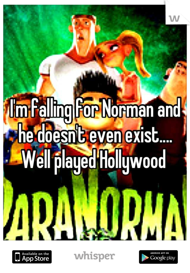 I'm falling for Norman and he doesn't even exist.... Well played Hollywood