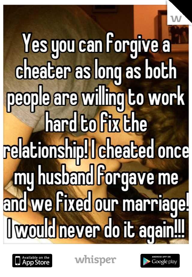 Should i forgive a cheating husband