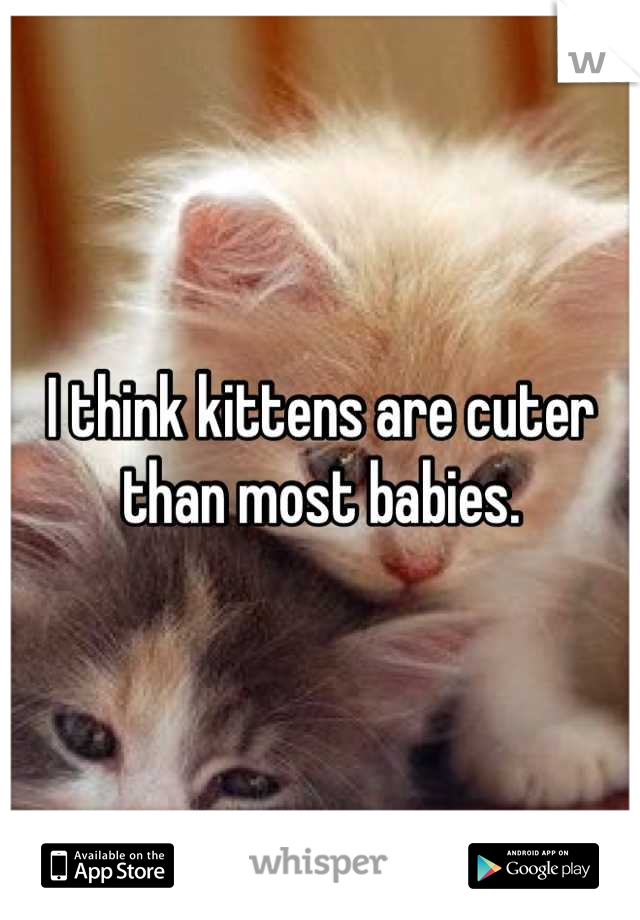 I think kittens are cuter than most babies.