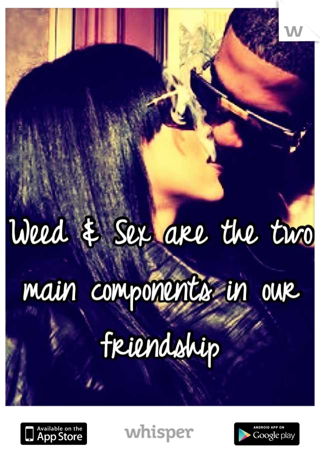 Weed & Sex are the two main components in our friendship