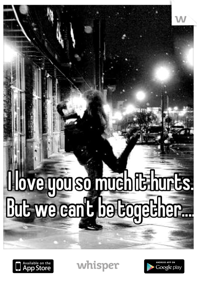 I love you so much it hurts. But we can't be together....
