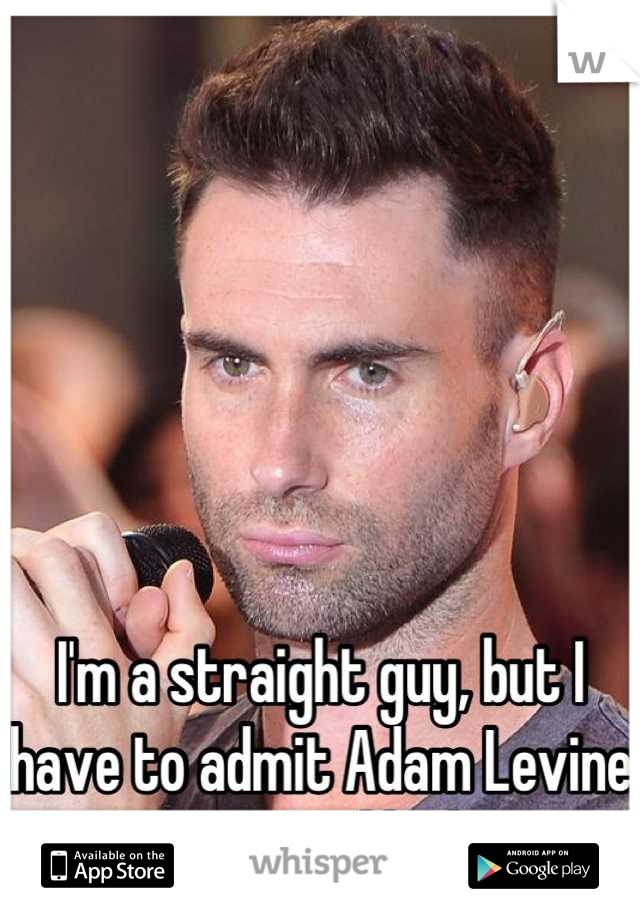 I'm a straight guy, but I have to admit Adam Levine is very good looking.