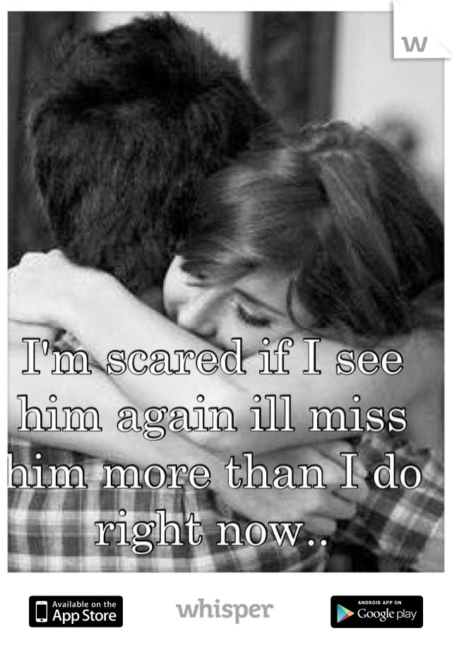 I'm scared if I see him again ill miss him more than I do right now..