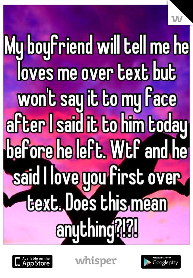 彼は私に言いました