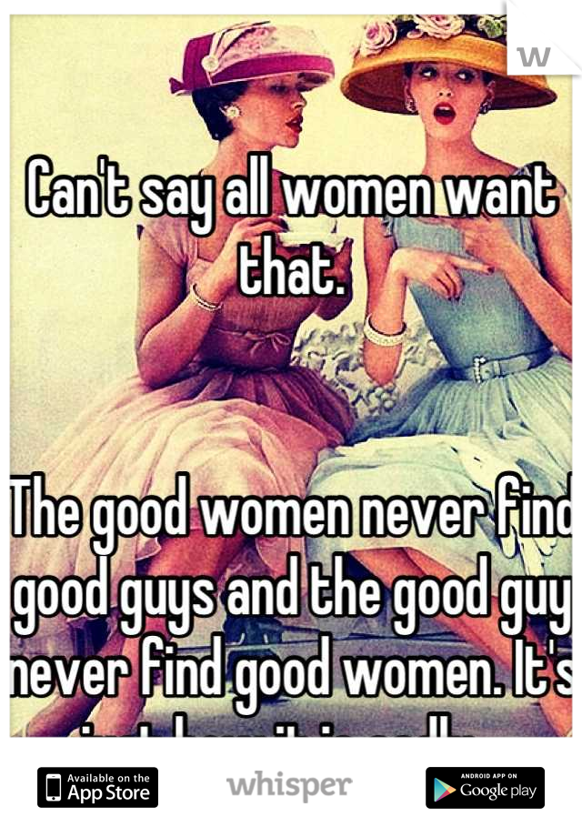 How to find a good guy