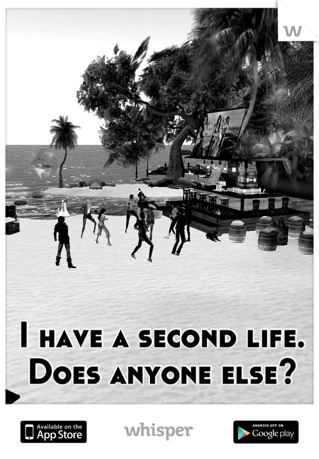 I have a second life.  Does anyone else?