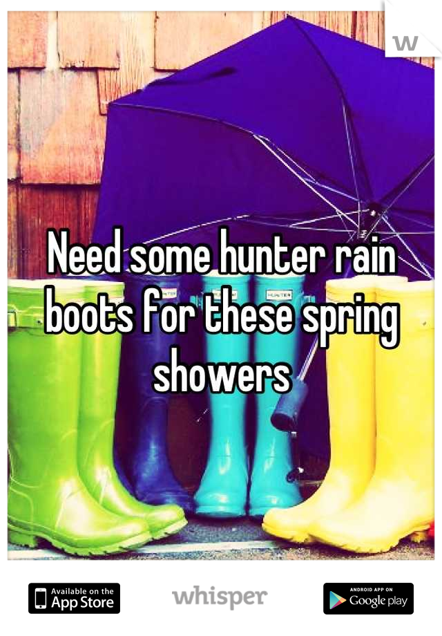 Need some hunter rain boots for these spring showers
