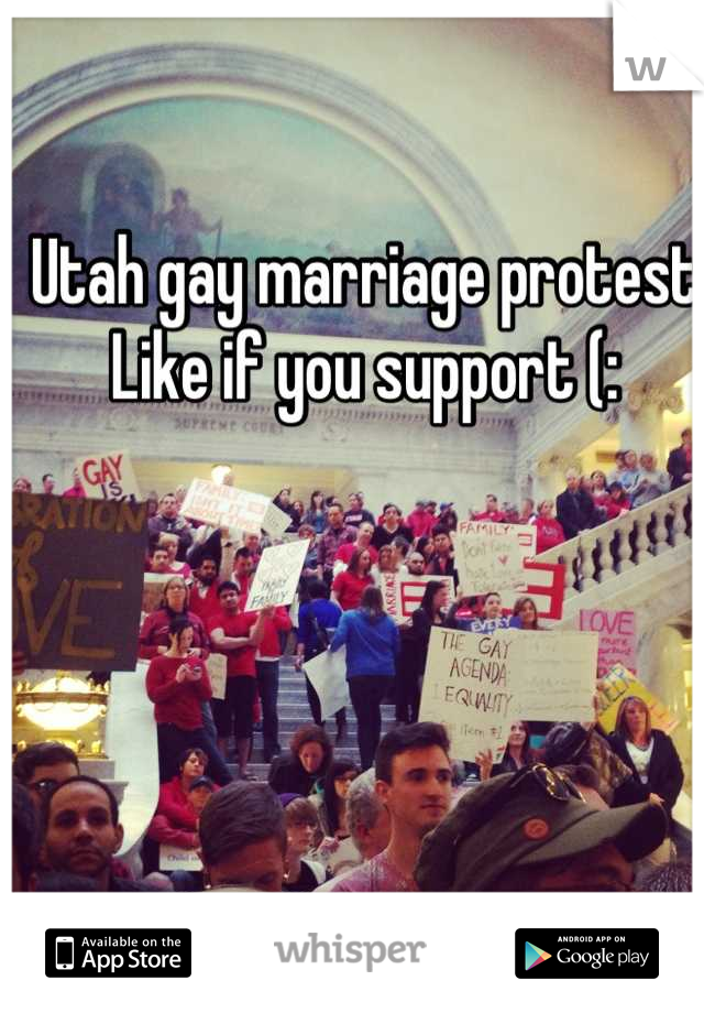 Utah gay marriage protest Like if you support (: