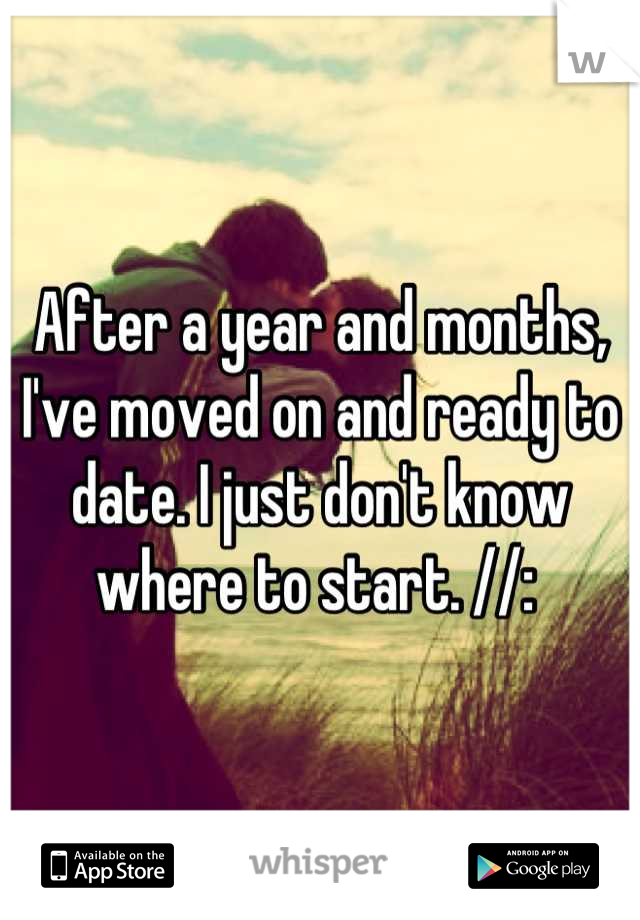 After a year and months, I've moved on and ready to date. I just don't know where to start. //: