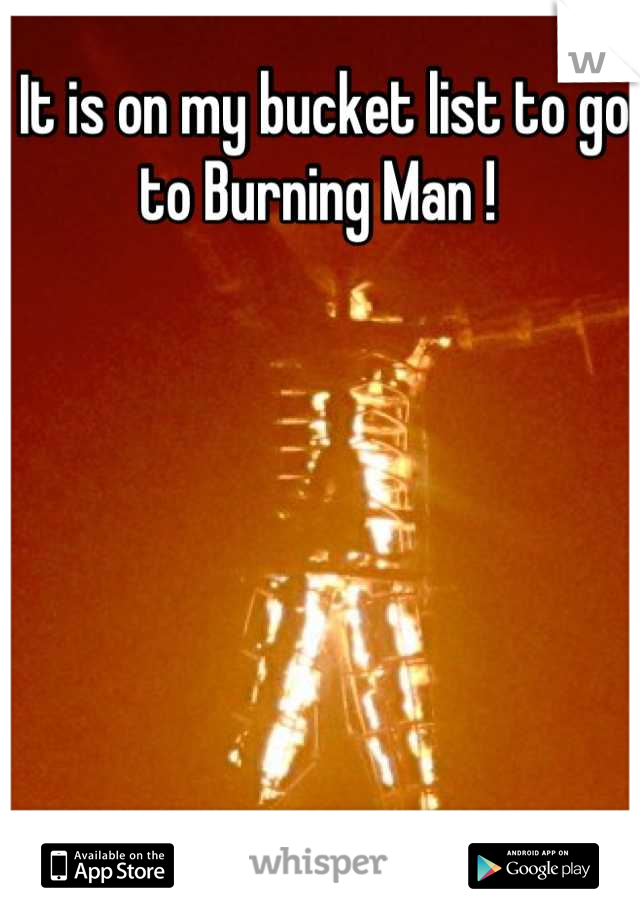 It is on my bucket list to go to Burning Man !