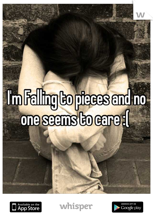 I'm Falling to pieces and no one seems to care :(