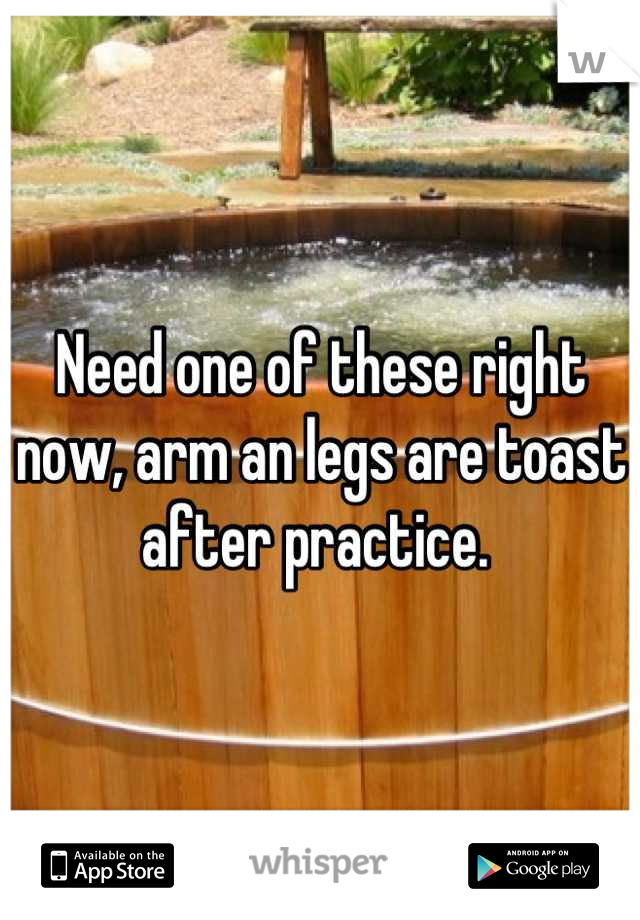 Need one of these right now, arm an legs are toast after practice.