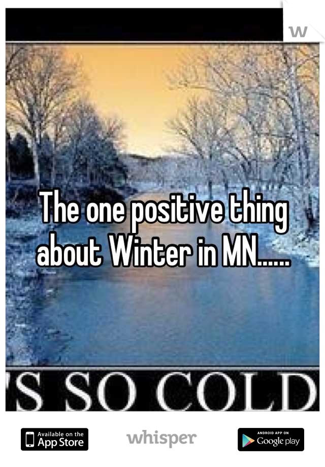 The one positive thing about Winter in MN......