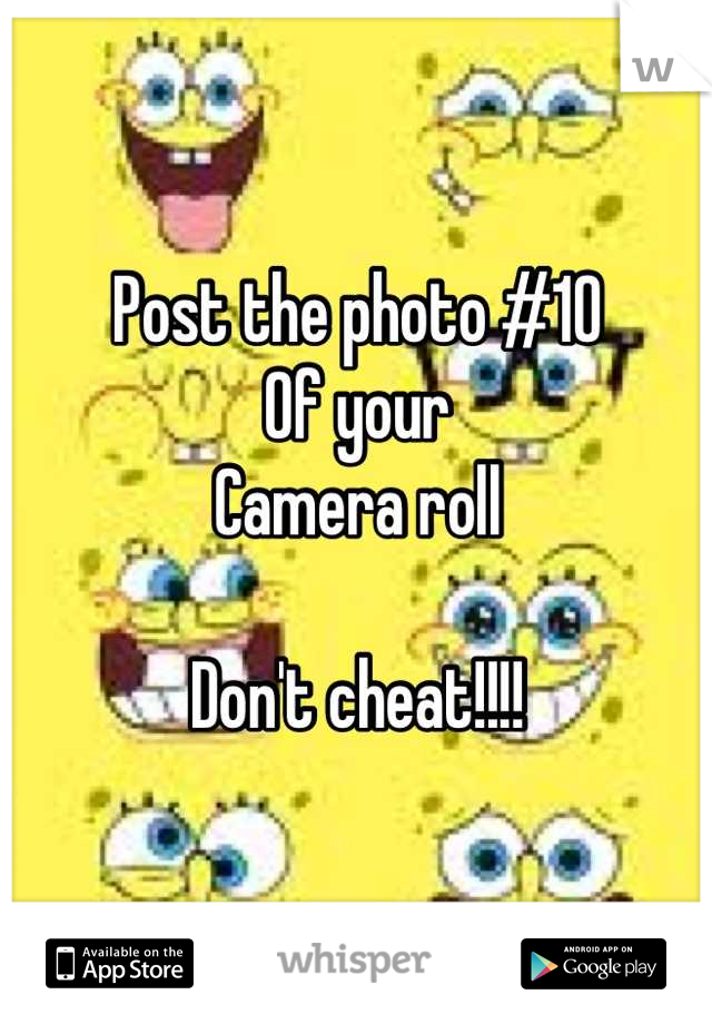 Post the photo #10 Of your Camera roll  Don't cheat!!!!