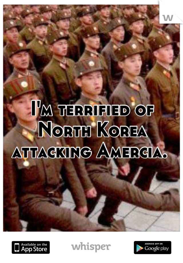 I'm terrified of North Korea attacking Amercia.