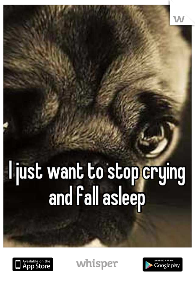 I just want to stop crying and fall asleep