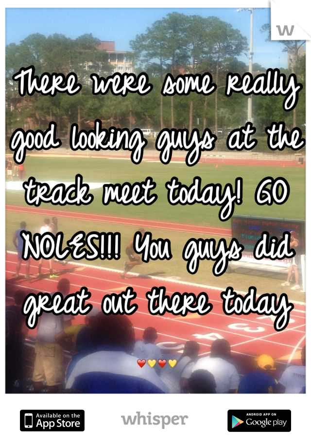 There were some really good looking guys at the track meet today! GO NOLES!!! You guys did great out there today ❤💛❤💛