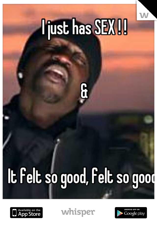 I just has SEX ! !    &    It felt so good, felt so good