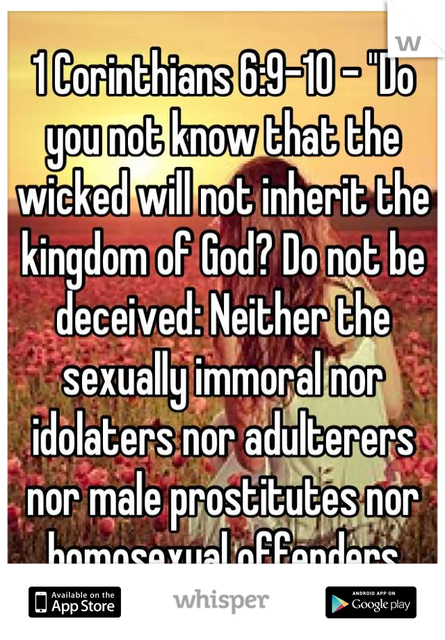 Sexually immoral nor idolaters