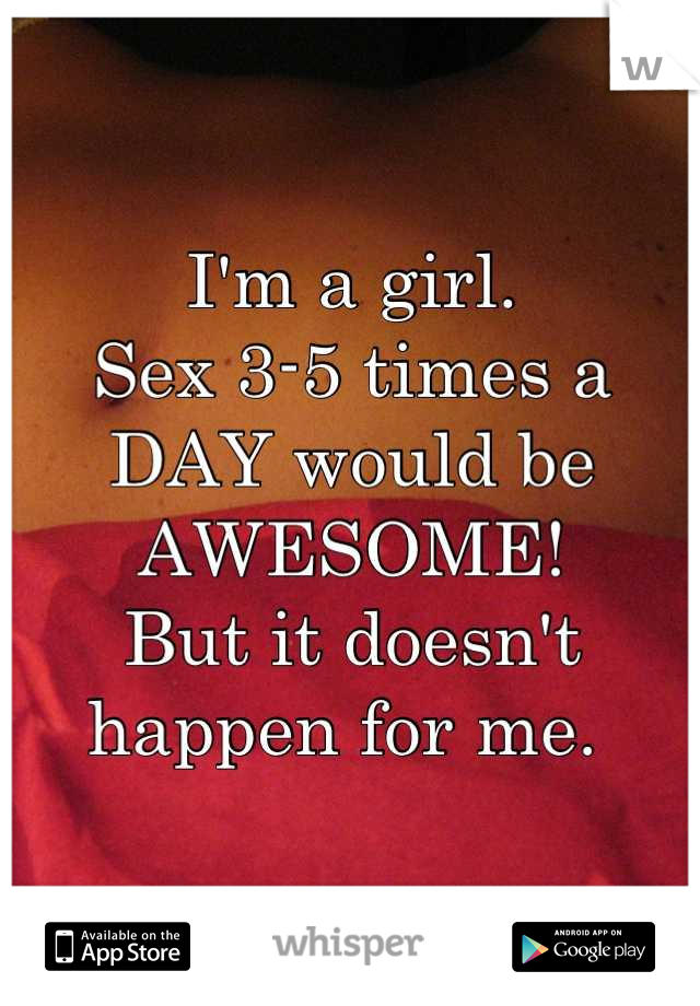 sex 3 times a day