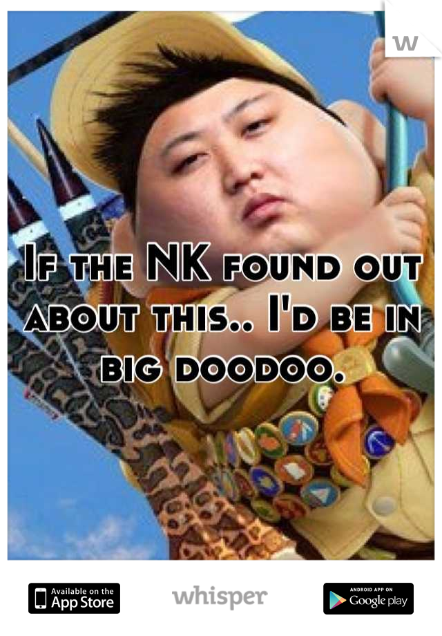 If the NK found out about this.. I'd be in big doodoo.