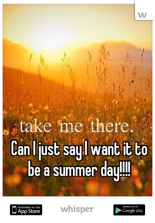 Can I just say I want it to be a summer day!!!!