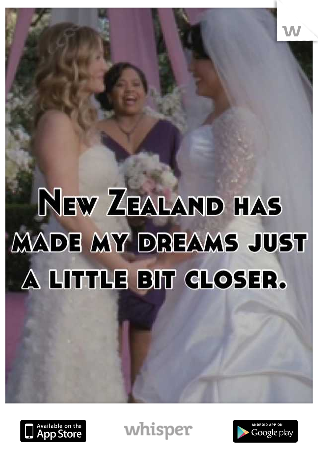 New Zealand has made my dreams just a little bit closer.