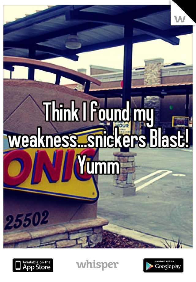 Think I found my weakness...snickers Blast! Yumm