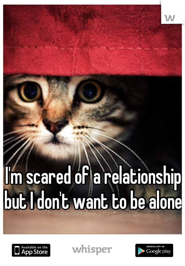 I'm scared of a relationship but I don't want to be alone
