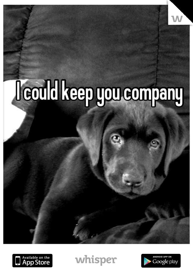 I could keep you company