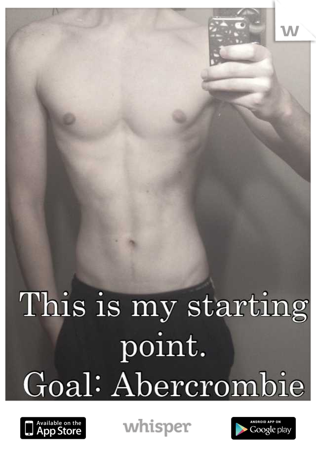 This is my starting point.  Goal: Abercrombie body by 4th of July