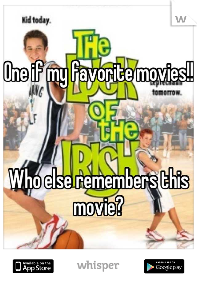 One if my favorite movies!!    Who else remembers this movie?