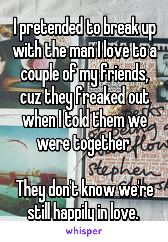 19 Couples Who Actually Faked Their Break-Up
