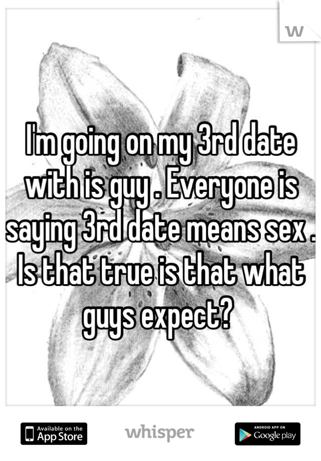 Sex on the 3rd date