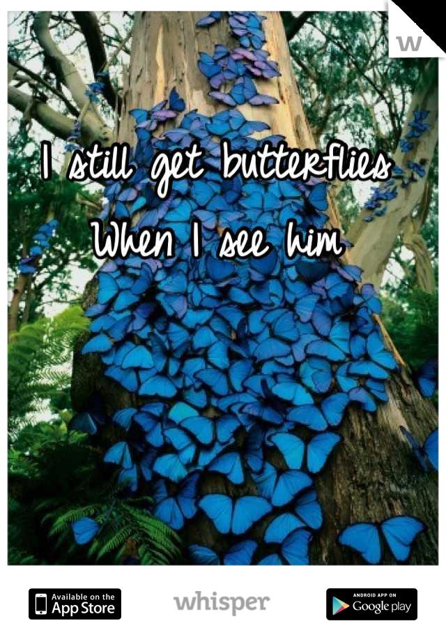 I still get butterflies When I see him