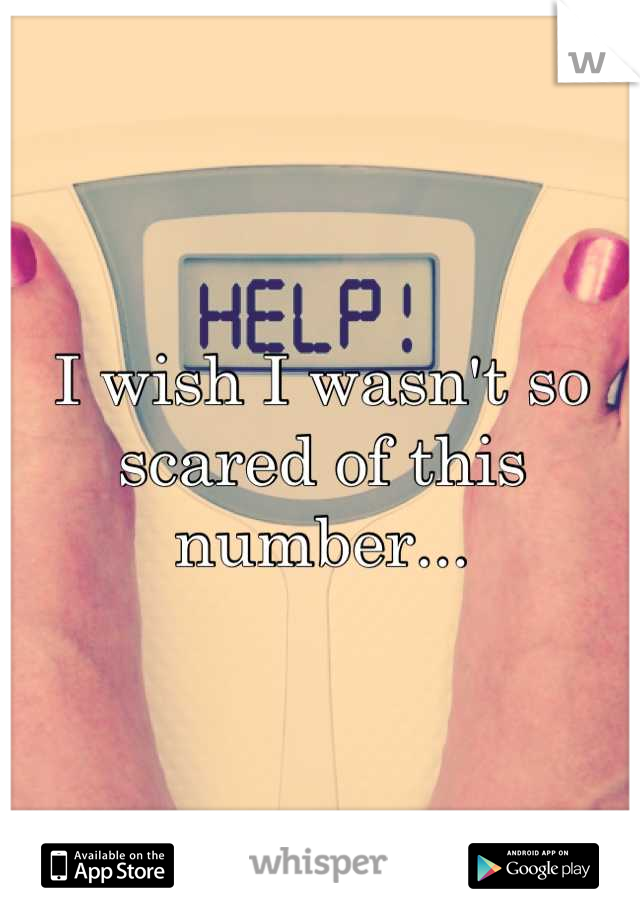 I wish I wasn't so scared of this number...