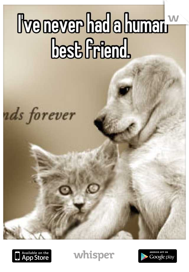 I've never had a human best friend.