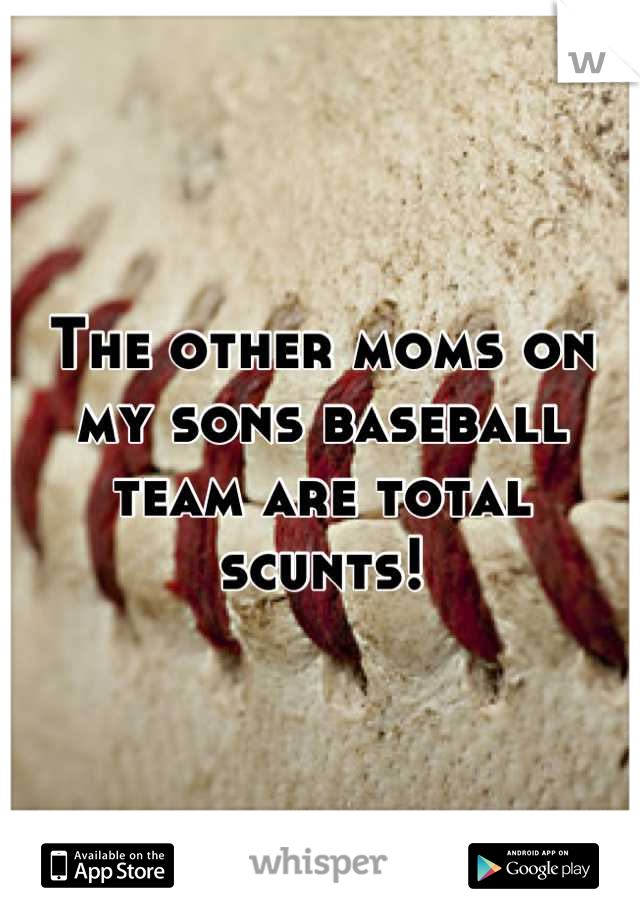 The other moms on my sons baseball team are total scunts!