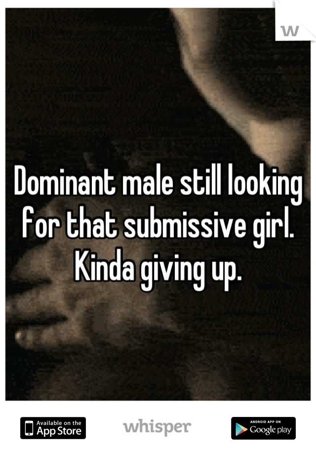 Looking for a submissive